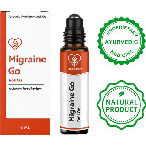 Herb Tantra  Migraine Go Headache Relief Roll-On (9 ml)