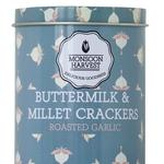 Buttermilk & Millet Crackers - Roasted Garlic