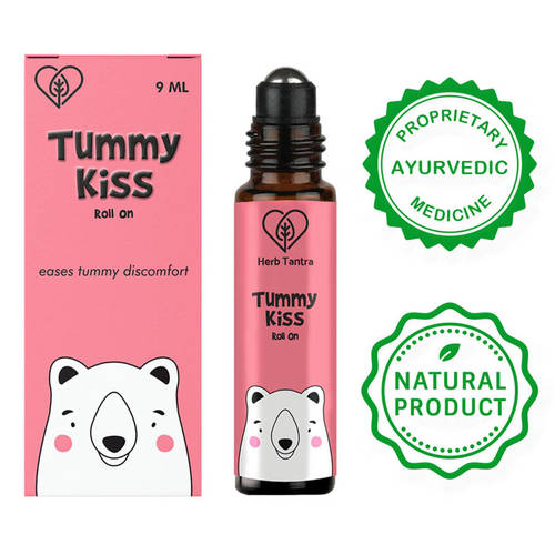 Herb Tantra Tummy Kiss Kids Roll On For Stomach Issues 9 ml