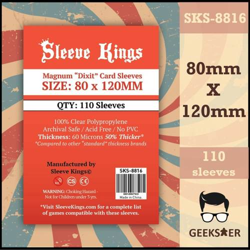 8816 Sleeve Kings Magnum Dixit 80 X 120mm