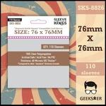 8826 Sleeve Kings Hogwarts Battle Square Compatible 76 X 76mm