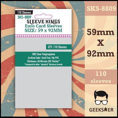 8809 Sleeve Kings Euro 59 X 92mm