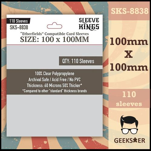 8838 Sleeve Kings Etherfields Compatible 100 X 100mm