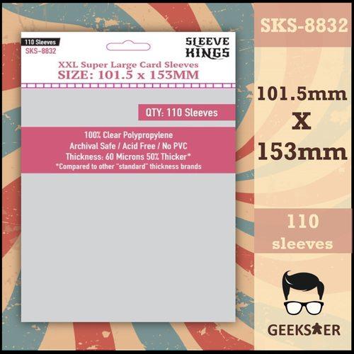 8832 Sleeve Kings XXL Super Large 101.5 X 153mm