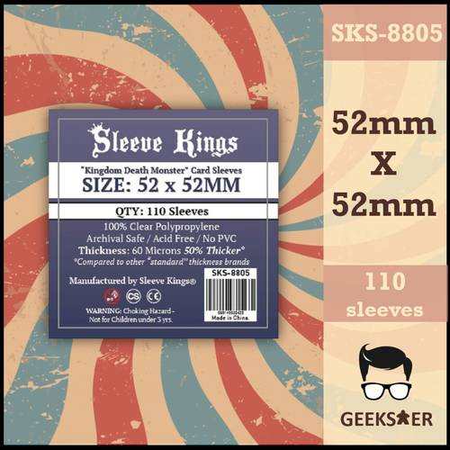 8805 Sleeve Kings Kingdom Death Monsters 52 X 52mm