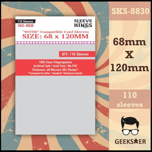 """8830 Sleeve Kings """"WOTR"""" Compatible (68 X 120mm)"""
