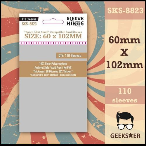 """8823 Sleeve Kings """"Space Alert Small"""" Compatible (60 X 102mm)"""