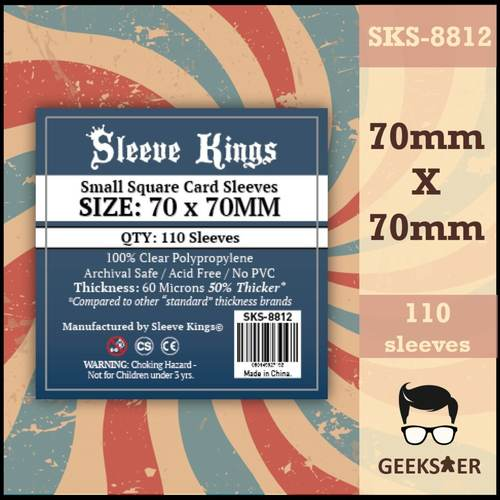8812 Sleeve Kings Small Square 70 X 70mm