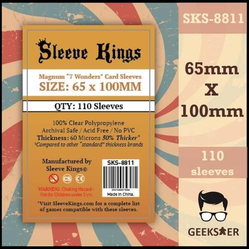 8811 Sleeve Kings Magnum 7 Wonders 65 X 100mm