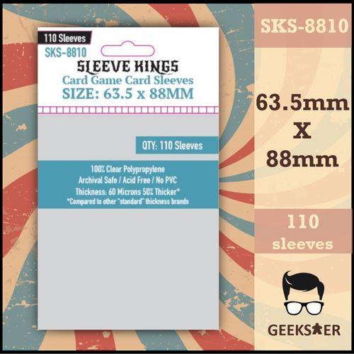 8810 Sleeve Kings Standard Card Game 63.5 X 88mm