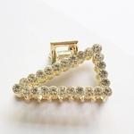 Gold Rhinestone Hair Claw Clips - Triangle