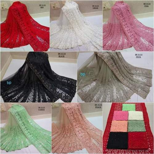 Soft Net fabric saree cut of 6.30 mtr with blouse