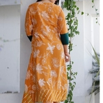 Heavy Rayon Discharge printed Kurti and pent with Duppta