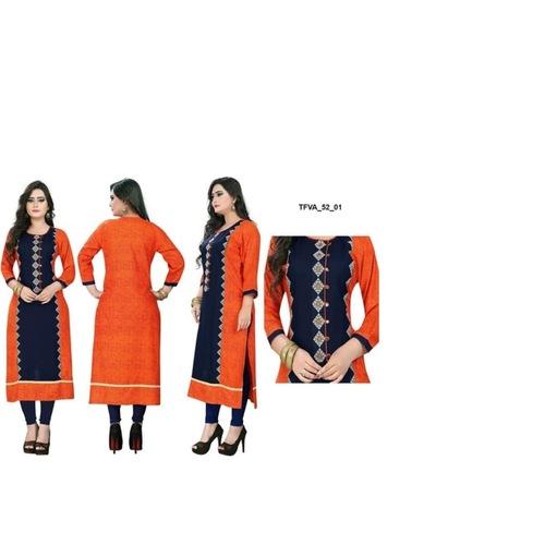 Launching Rayon Kurti with Embroidery*_