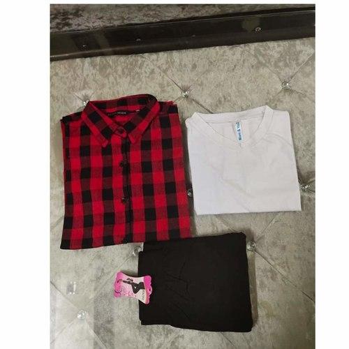 pack of 3 shirt+tshrt+jeggings