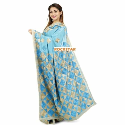 Phullkari saree