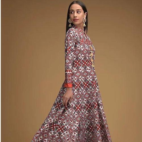 Designer Gown On Tafeta silk
