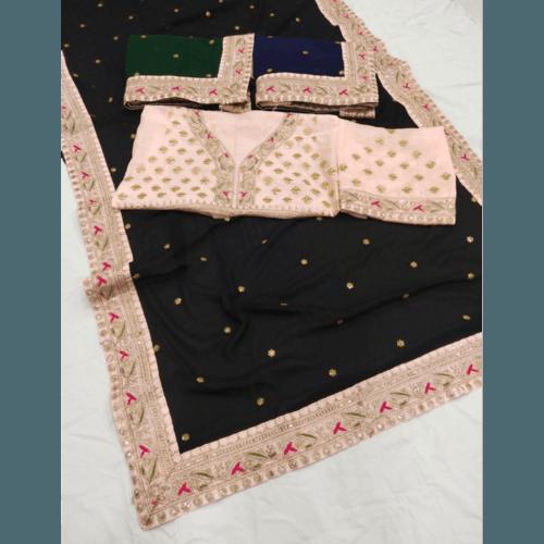Embroidery silk Saree