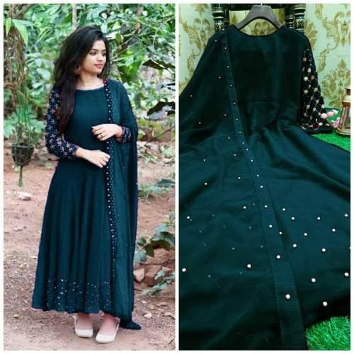 gown with Lock Moti Dupatta