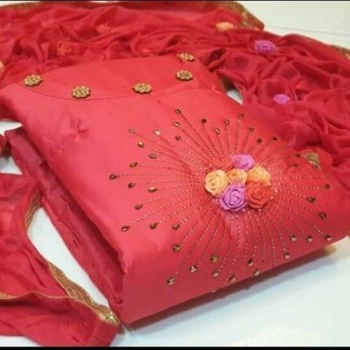 EXCLUSIVE DRESS MATERIAL SUIT FOR WOMEN, MORE COLOR OPTIONS AVAILABLE PLZ WHATSAAP US.