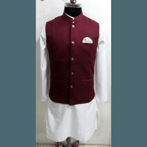 Nehru/Modi Jacket with White Kurta pajama set