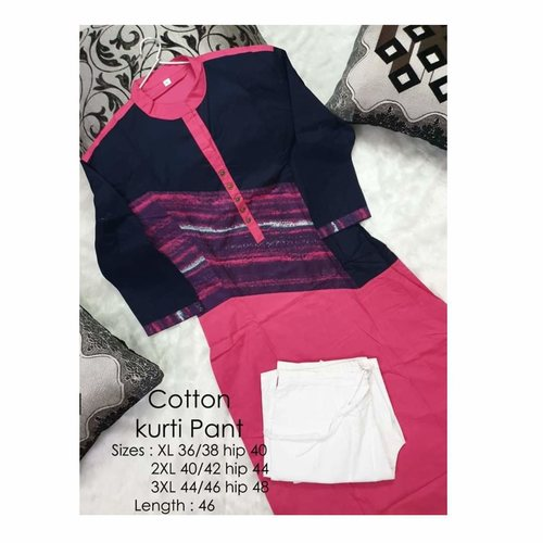 Pack of two  kurti + pants