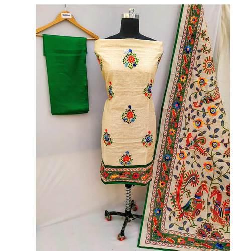 Handicrafted Madhubani Suits