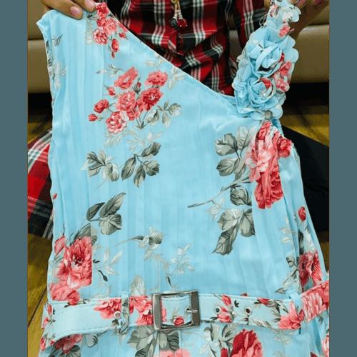 Georgette floral  print maxi