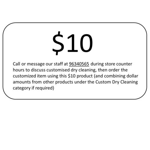 10 Custom Dry Cleaning
