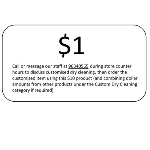 1 Custom Dry Cleaning
