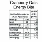 Cranberry & Oats - Energy Bites 300gm