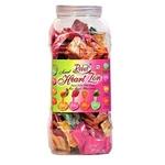 Rebel Heart Mix Fruits Toffee  Assorted Strawberry Mango Orange Kaccha Aam Candy Jar  Pack of 1 -150+100 free200 Pc