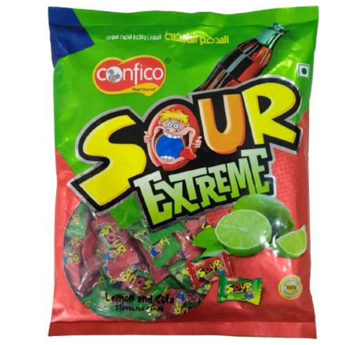 Confico Sour Extreme Lemon and Cola Candy  Pack of 2