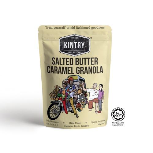 KINTRY Salted Butter Caramel Granola 200g Halal
