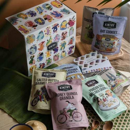 Kraft Gift Box + Graphic Sleeve + Shredded Paper Decor