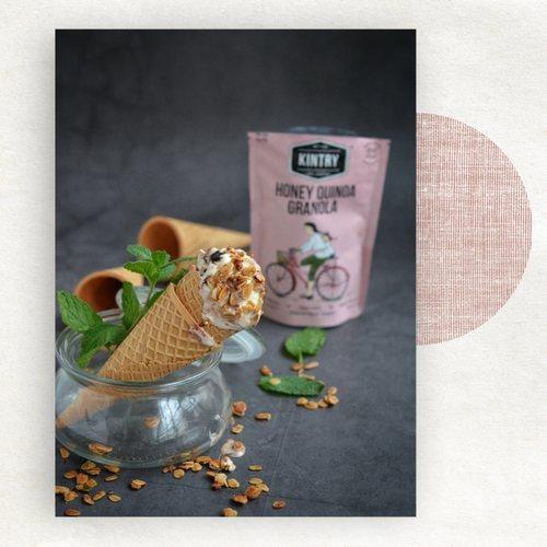 KINTRY Honey Quinoa Granola - no nuts 60g Halal