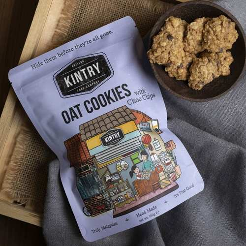 KINTRY Oat Cookies with Chocolate Chips 140g Halal