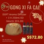 Aroma Essential Oil Diffuser + 3 X 250ml Essential Oil