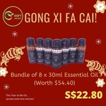 Exclusive Deal  Bundle of 8 x 30ml Essential Oil water based
