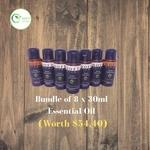 [ Exclusive Deal ] Bundle of 8 x 30ml Essential Oil water based