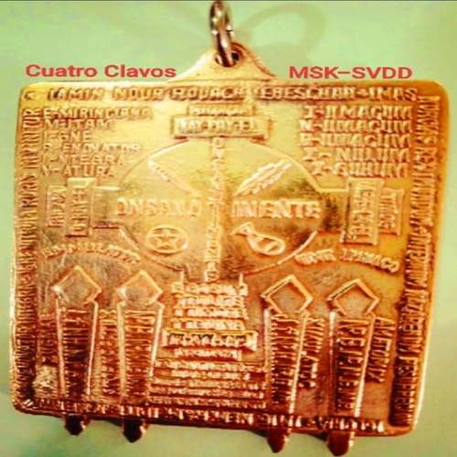 Cuatro Clavo Protection and Lucky Charm Medallion