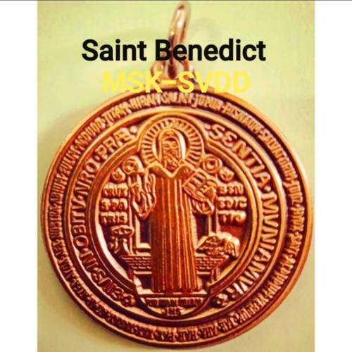 Saint Benedict Protection and Lucky Charm Medallion