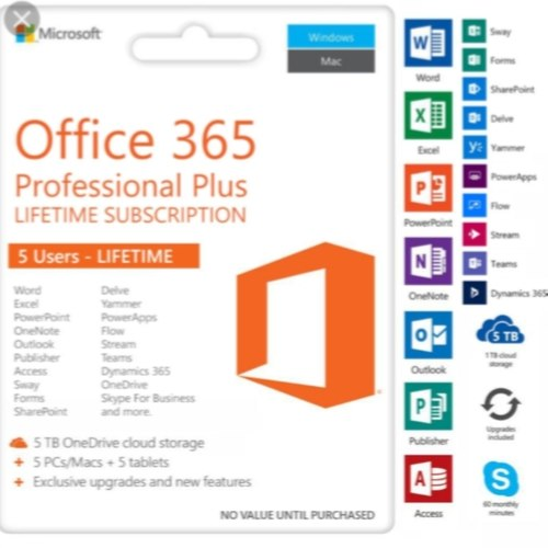 Microsoft 365 Professional Plus for WINDOWS & MAC