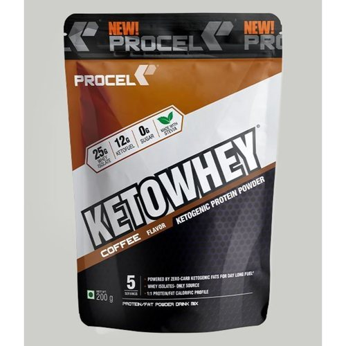 MastMart PROCEL KETOWHEY Whey Isolate Protein Powder with Ketofuel - Trail Pack 200g coffee