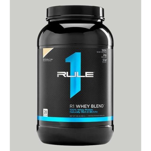 WellnessMart Rule 1 Whey Blend Protein Birthday Cake 2 lbs