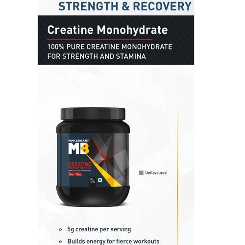 MuscleBlaze CreaPRO Creatine with Creapure, Unflavoured 0.25 Kg