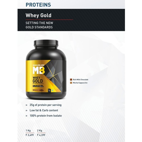 MastMart MuscleBlaze Whey Gold Protein - Price applicable on min. 2 Qty.