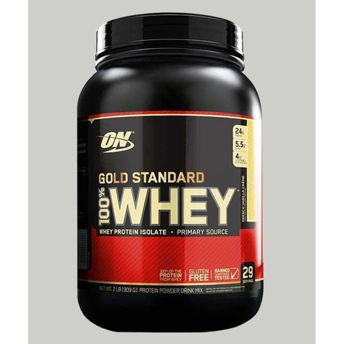WellnessMart ON 100 Gold Standard Whey Protein Strawberry Banana 2 lbs