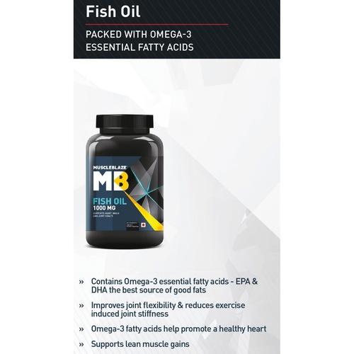 MastMart MuscleBlaze Fish Oil 1000 mg, 180 softgels