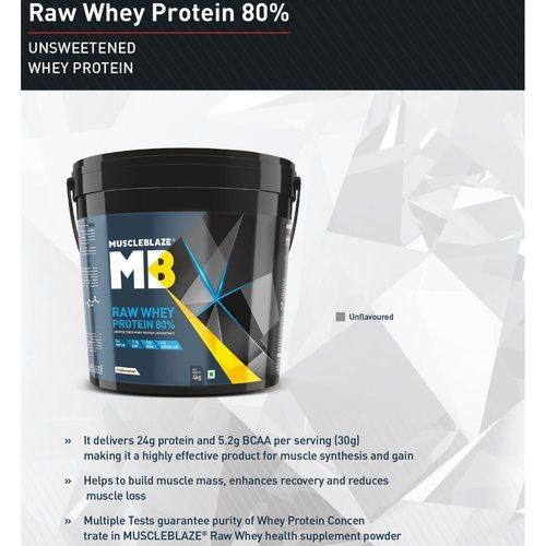 MastMart MuscleBlaze Raw Whey Protein, 4 Kg Chocolate
